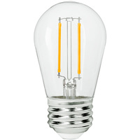 LED S14 Bulb - 3 Watt - 25 Watt Equal - 250 Lumens - 2700 Kelvin - Incandescent Match - 120 Volt - Bulbrite 776851
