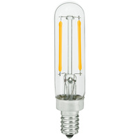 LED T6 Tubular Bulb - 2.5 Watt - 25 Watt Equal - 180 Lumens - 2700 Kelvin - Candelabra Base - Incandescent Match - 120 Volt - Bulbrite 776880