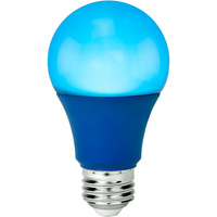 Blue - LED - A19 Party Bulb - 9 Watt - 60W Equal - Medium Base