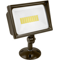 6700 Lumens - Mini LED Flood Light Fixture - Landscape and Wall Washer - 66 Watt - 4000 Kelvin - Color Matches Metal Halide - Height 8.43 in. - Width 7.93 in. - Depth 4 in. - 120V - 5 Year Warranty - Lithonia QTE