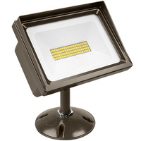 4000 Lumens - 5000 Kelvin - 40 Watt - Mini LED Flood Light Fixture - Landscape and Wall Washer - Height 5 in. - Width 6.68 in. - Depth 6.43 in. - 120V - 5 Year Warranty - Lithonia QTE