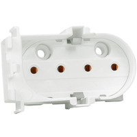 4 Pin 2G11 CFL Socket - Vertical End Mount - Use with 55 Watt Twin Tube Lamps - Rated 660W 600V