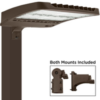 39,000 Lumens - LED Parking Lot Fixture - 4000 Kelvin - Color Matches Metal Halide - 300 Watt - Comes with Straight Mounting Arm and Slipfitter - 120-277V