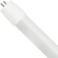 4 ft. LED T8 Tube - Plug and Play - 1650 Lumens - 3000 Kelvin - 10.5 Watt - 120-277 Volt - Case of 25 - Green Creative 28397
