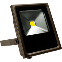 2700 Lumens - 3000 Kelvin - 30 Watt - Mini LED Flood Light Fixture - Landscape and Wall Washer - Height 9.4 in. - Width 8.2 in. - Depth 2.38 in. - 120-277V - 5 Year Warranty - 13% Brighter Than a 70W Metal Halide and Uses  57% Less Energy