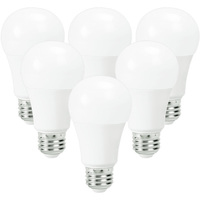 LED A19 - 10.5 Watt - 60 Watt Equal - Incandescent Match - Color Corrected CRI 91 - 800 Lumens - 2700 Kelvin - 120 Volt - 6 Pack - GE 27978