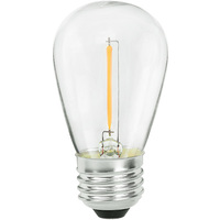 LED S14 Bulb - 0.7 Watt - 11 Watt Equal - 75 Lumens - 2400 Kelvin - Color Matched For Incandescent Replacement - 120 Volt - Bulbrite 776684