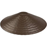 8 in. - Bistro Decor Shade - Hammered - Bronze Finish - Aluminum - Snap-On Shade for Medium Base Patio Light Stringers