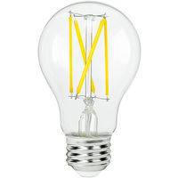 LED A19 Bulb - 7 Watt - 60 Watt Equal - 800 Lumens - 2700 Kelvin - Incandescent Match - 120 Volt - Bulbrite 776874