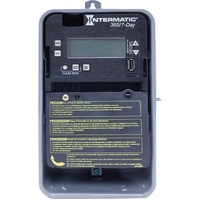 7-Day Digital Single Channel Time Switch - Raintight Metal Case - Gray Finish - 120-277 VAC - Intermatic ET2705CR