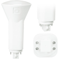 LED PL - 4 Pin G24q or GX24q Base - 6 Watt - 600 Lumens - 3500 Kelvin Replaces 13W-18W CFL - Plug and Play  - 120-277V -  Green Creative 28372