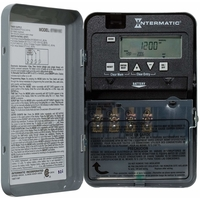 24 Hour Electronic Time Switch - Steel Case - Gray Finish - 120 Volt - Intermatic ET1105C