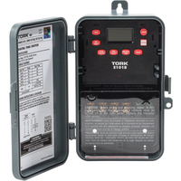 Tork E101B - 24 Hr. Multi-Purpose Digital Time Switch - NEMA 3R Raintight Plastic Case - 1 Channel - SPST - 40 Amps - 120-277 VAC