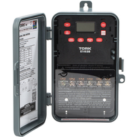 Tork E103B - 24 Hr. Multi-Purpose Digital Time Switch - NEMA 3R Raintight Plastic Case - 1 Channel - DPST - 40 Amps - 120-277 VAC