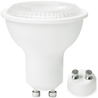 500 Lumens - 3000 Kelvin - LED MR16 - 6 Watt - 50W Equal - 35 Deg. Flood - CRI 82 - Dimmable - 120V - GU10 Base - Green Creative 57988