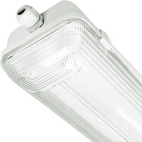 4 ft. Fluorescent Vapor Tight Fixture - IP65 Rated - Operates 2 F32T8 Lamps - 120-277 Volt - Lithonia XWL232 MV