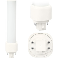 LED PL - 4 Pin G24q or GX24q Base - 9 Watt - 950 Lumens - 3000 Kelvin Replaces 26W-42W CFL - Plug and Play - 120-277V - Satco S29850