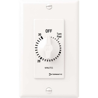 Spring Wound In-Wall Timer Switch - White - 30 Minute Time Cycle - DPST - Intermatic FD430MW
