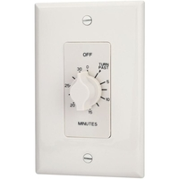Spring Wound In-Wall Timer Switch - White - 30 Minute Time Cycle - SPST - Tork A530MW