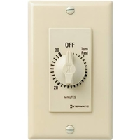 Spring Wound In-Wall Timer Switch - Ivory - 30 Minute Time Cycle - SPST - Intermatic FD30MC