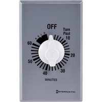 Intermatic FF60MHC - Commercial Spring Wound In-Wall Timer Switch - Auto-Off - 60 Min. Time Cycle - SPST - 875 Watt Max. - Metal Finish