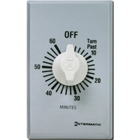 Intermatic FF60MC - Commercial Spring Wound In-Wall Timer Switch - Auto-Off - 60 Min. Time Cycle - SPST - Metal Finish