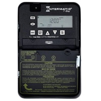 Intermatic ET1705C - 7-Day Digital Time Switch - NEMA 1 Indoor Steel Case - 1 Channel - SPST - 30 Amps - 120-277 VAC