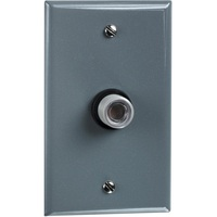 Button Type Photocell - Fixed Position Mounting - Metal Wall Plate Included - LED Compatible - 120 Volt - Precision Multiple A-105W