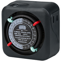 24 Hour Mechanical Indoor Timer - 9 Amp - 1 Outlet - 1125 Watt Maximum - 125 Volt - Intermatic TN111RM40
