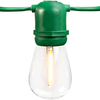Patio Light Stringer, 100 ft, Green Wire, Bulbs Not Included., PLT YXL-C2A-L48-G