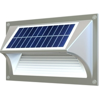 Solar Mini Wall Mount Light - 20 Lumens - 4000 Kelvin - 0.2 Watt - 10 Watt Halogen Replacement - Light Efficient Design RP-SSL-1W-40K-BK-G1