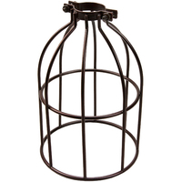 Light Bulb Cage - Open Style - Dark Bronze - Clamp Mount