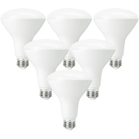 LED BR30 - 8 Watt - 65 Watt Equal - Halogen Match - 650 Lumens - 3000 Kelvin - 6 Pack - PLT-11035-6PK