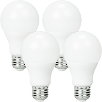 LED A19 - 9 Watt - 60 Watt Equal - Cool White - 4 Pack - 800 Lumens - 4000 Kelvin - Medium Base - 120 Volt - Euri Lighting EA19-6040e-4