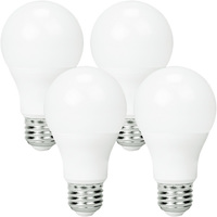 800 Lumens - LED A19 - 9 Watt - 60W Equal - 3000 Kelvin - 4 Pack - Halogen Match - Medium Base - 120 Volt - Euri Lighting EA19-6000e-4