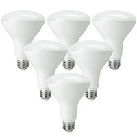 LED BR30 - 11 Watt - 65 Watt Equal - Halogen Match - 850 Lumens - 3000 Kelvin - 6 Pack - PLT-11050-6PK