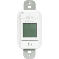 Smart Digital In-Wall Timer Switch - Single Pole or 3-Way - White - 42 On/Off Operations Per Week - Intermatic STW700W
