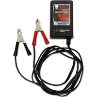 Battery Maintainer 4000 - 12 Volt - 4 Amp - Three Stage - SLA Battery Charger and Maintainer - Regulated - Adventure Power 84038