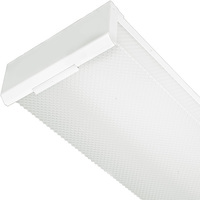 4 ft. LED Wraparound Fixture with Prismatic Lens - 4800 Lumens - 4100 Kelvin - Compatible With Included (2) 4