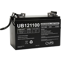 12 Volt - 110 Ah - FL1 Terminal - UB121100 (Group 30H) - AGM Battery - UPG 45824