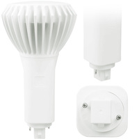 LED PL - 2 Pin or 4 Pin G24 or GX24 Base - 16.5 Watt - 1900 Lumens - 4000 Kelvin Replaces 26W-42W CFL - Ballast Bypass - 120-277V - Green Creative 98258