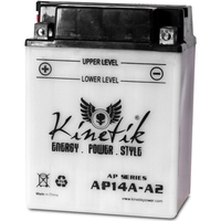 UPG 42002 - OEM UB14A-A2 - Motorcycle Battery - Conventional (Wet Pack) - 12 Volt - 14 Ah Capacity - D Terminal