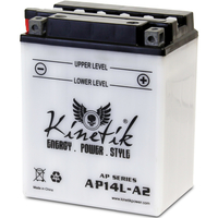 UPG 42003 - OEM AP14L-A2 - Motorcycle Battery - Conventional (Wet Pack) - 12 Volt - 14 Ah Capacity - D Terminal
