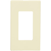 Leviton Decora 80301-ST - Light Almond - 1 Gang - Decorator Wallplate - Screwless - Snap-On