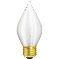 60 Watt - C15 Incandescent Light Bulb - Spun Thread Satin White - Medium Brass Base - 120 Volt - Satco S3415