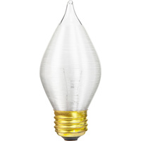 60 Watt - C15 Incandescent Light Bulb - Spun Thread Satin White - Medium Brass Base - 120 Volt - Satco S2715