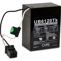 6 Volt - 12 Ah - P2 Terminal - UB6120  - TOY AGM Battery - UPG D5737