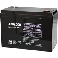 6 Volt - 200 Ah - I4 Terminal - UB62000 (Group 27 Case) - AGM Battery - UPG 45969