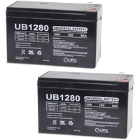 Pack of 2 - 12 Volt - 8 Ah - F1 Terminal - UB1280 - AGM Battery