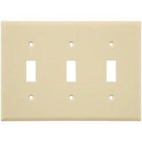Almond - 3 Gang - Toggle Wall Plate - Enerlites 8813-A